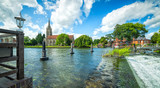 Summer scenery of Thames river in Marlow - 173533117