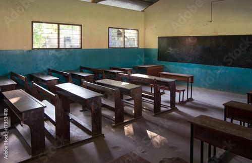 Fotobehang Zanzibar An ordinary classroom in an African school.