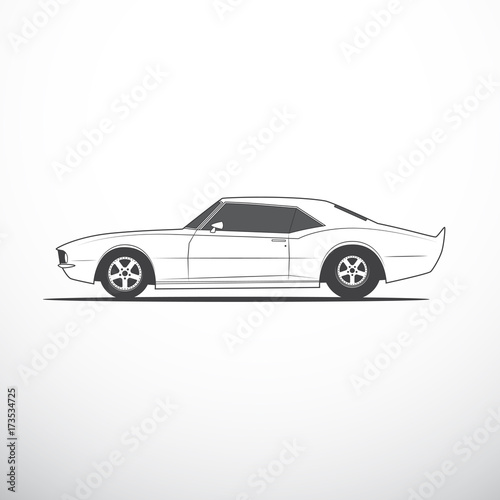 Vector American Muscle Car Side View Buy Photos Ap Images