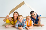 Family moving into new house - 173544149