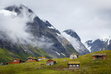 Mointains in Norway with summer houses