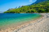 Beautiful beach with lagoon in Makarska, Dalmatia, Croatia - 173563387