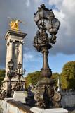 Réverbère du pont Alexandre III à Paris, France - 173567343