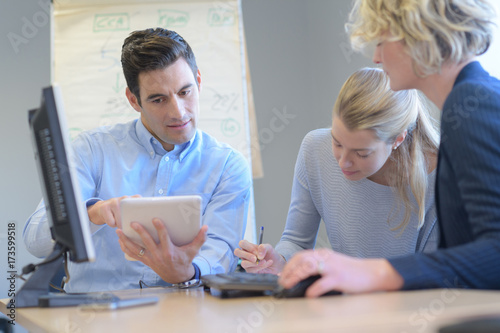 team setting up a meeting