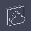 Cloud computing vector icon isolated on background