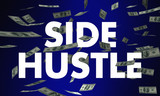 Side Hustle Second Income Job Work Money Words 3d Illustration - 173610303