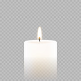Candle tealight or tea light vector 3D realistic icon burning flame fire - 173657598