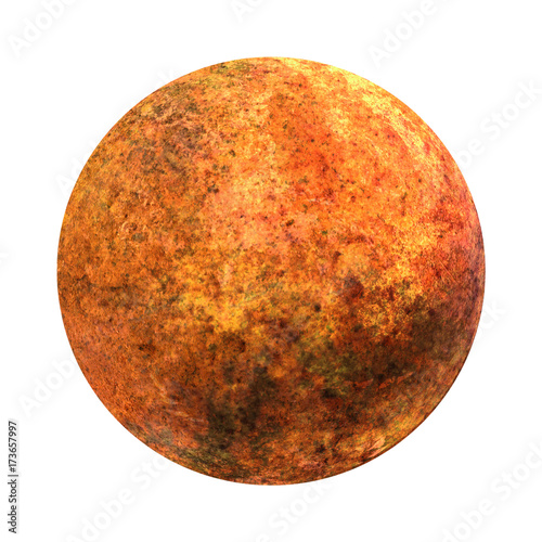 Fotobehang Nasa Solar System - Venus. Isolated planet on white background. High resolution beautiful art presents planet of the solar system. 3D illustration.