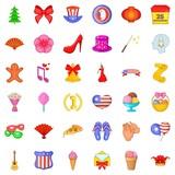Festive day icons set, cartoon style - 173659186