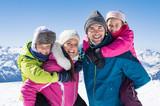Family enjoying winter holiday - 173659746
