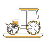 classic horse carriage icon vector illustration graphic design