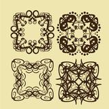 Vintage frames and scroll elements,Floral background design, luxury mandala - 173675574
