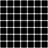 Optical illusion. White circles flash on black squares and change color. - 173675927
