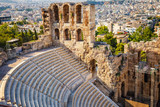 Odeon of Herodes Atticus in Acropolis of Athens, Greece - 173686324