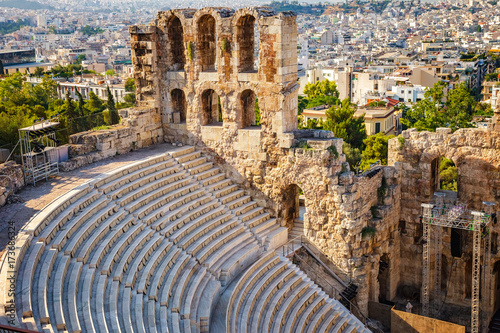 Poster Athene Odeon of Herodes Atticus in Acropolis of Athens, Greece