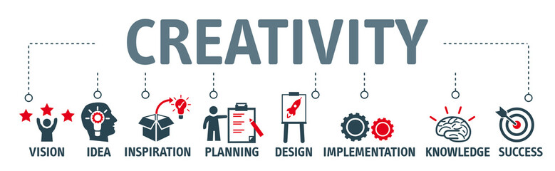 Banner creativity concept vector illustration © Trueffelpix