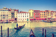 Gondola on Grand canal in Venice, Italy