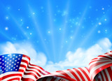 American Flag Background - 173692582