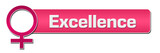 Excellence Female Symbol Pink Horizontal  - 173712164