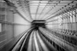 Motion blur of train