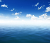 Blue sea water surface - 173740544