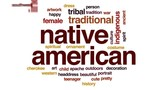 Native american animated word cloud, text design animation. - 173748991