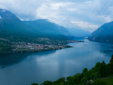 View above big beautiful lake, Como lake. Italy - 173779524