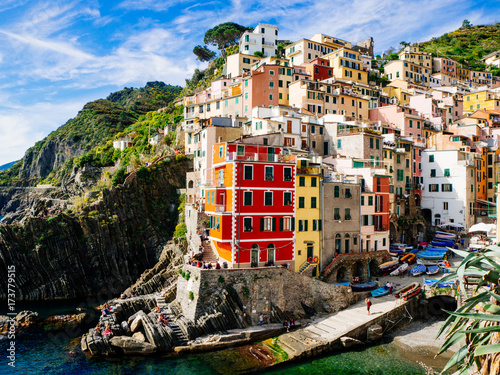 Beautiful view of Manarola town, Cinque Terre, Liguria, Italy Poster