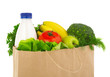 Groceries bag close-up