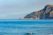 Quadro Morning sea coast, Italy.