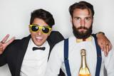Trendy men in formal suits - 173790183