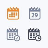 Calendars - Carbon IconsA set of 4 professional, pixel-aligned icons designed on a 32x32 pixel grid.