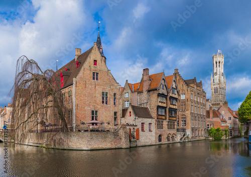 Foto op Aluminium Brugge Brugge cityscape - Belgium
