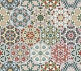 Vector set of hexagonal patterns. - 173793730