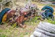 rusted abandon tractor