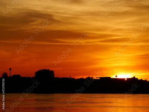 Foto op Canvas Oranje eclat Evening Thai - Lao