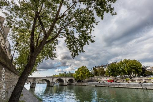 Spoed canvasdoek 2cm dik Parijs La Seine tranquille