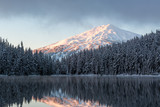 Snowy Mountain Lake Sunrise