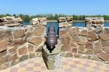 A cannon on the embankment in the village of Romanovskaya, Rostov Region. - 173805378