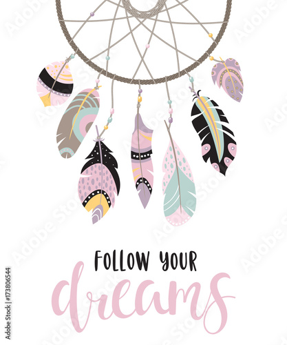 inspirational-quote-with-dreamcatcher