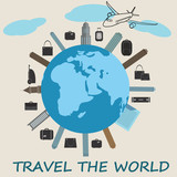 Global travel concept - cute flat design.World tourism day - 173833183