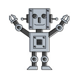 Happy Robot Icon Image  Illustration Design  Wall Sticker