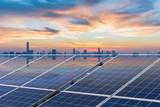 roof solar energy in sunset - 173867563