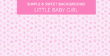 Pink baby girl pattern Simple & Sweet Background vol.13