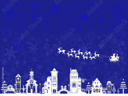 Foto op Canvas Violet クリスマス 風景 サンタクロース