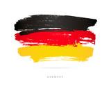 Flag of Germany. Brush strokes - 173883196