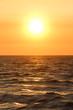 Quadro Seascape at sunset