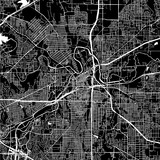 Fort Worth, Texas. Downtown vector map. - 173885793