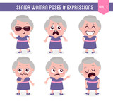 Senior woman poses and expressions (Vol. 2 / 8) - 173891913