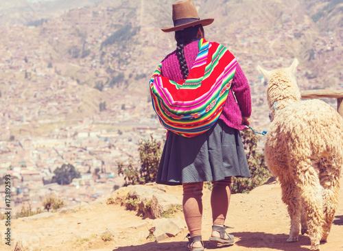 Fotobehang Galyna A. Peruvian people